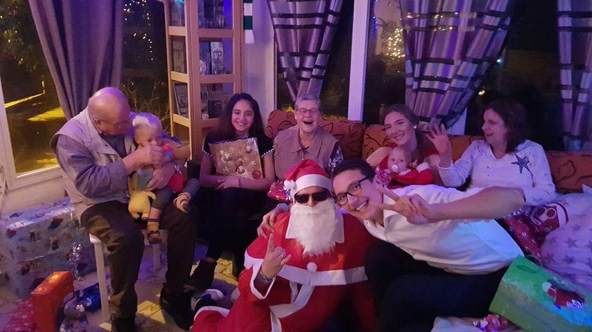 Jens Büchner und seine Familie, Weihnachten 2017