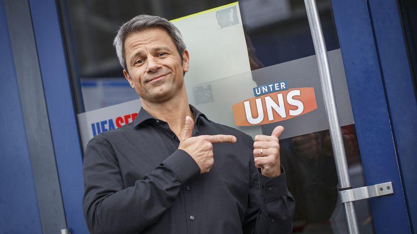 "Jens Hajek am ""Unter uns""-Set"