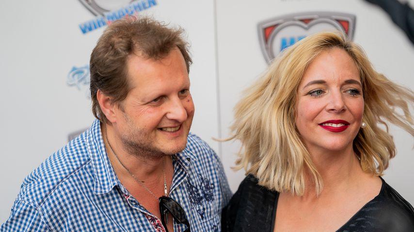Jens und Daniela Büchner bei der Eröffnung des Mega-Parks in El Arenal, 2018