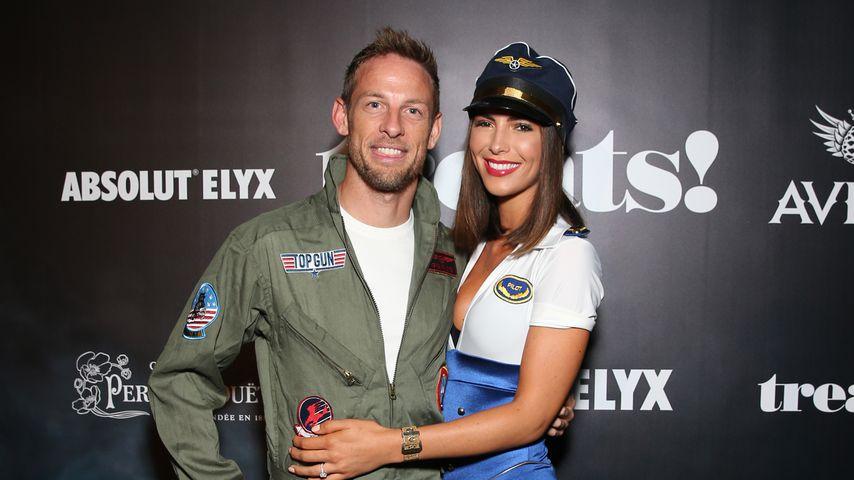Jenson Button und Brittny Ward an Halloween 2018