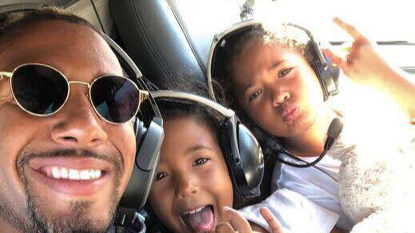 In der Luft statt auf dem Rasen: Boateng fliegt mit Twins!