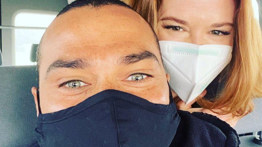 """Jesse Williams und Sarah Drew am Set von """"Grey's Anatomy"""""""
