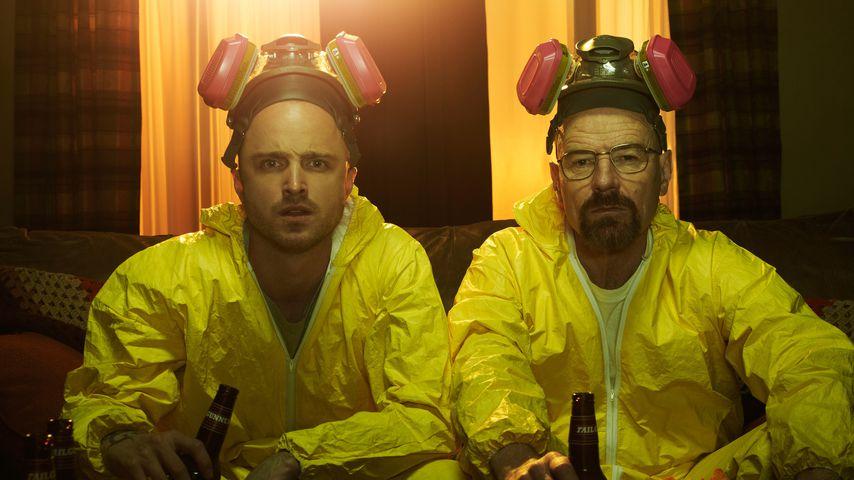 """Aaron Paul und Bryan Cranston in ihren """"Breaking Bad""""-Rollen Jesse Pinkman und Walter White"""