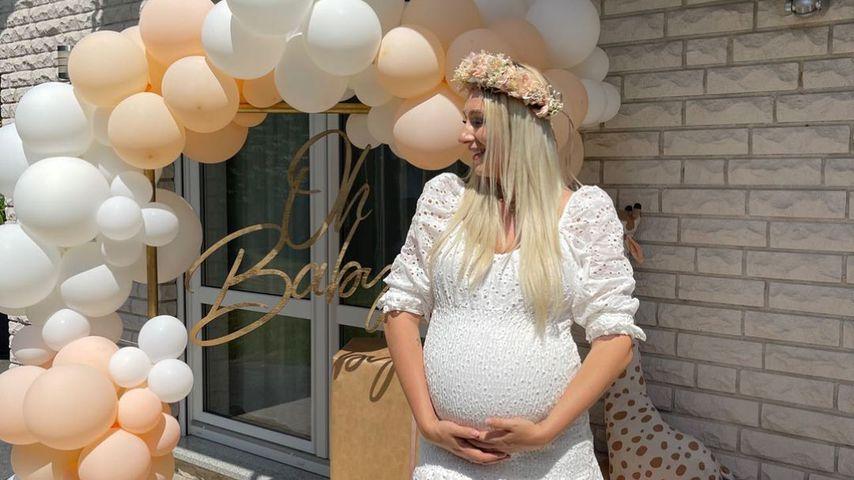 Jessica Schröder bei ihrer Babyshower