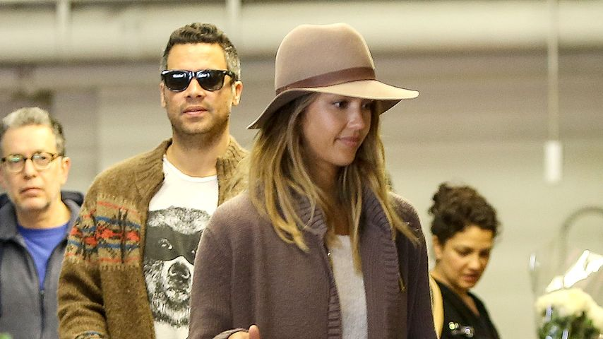 Jessica Alba, Haven Garner Warren und Cash Warren