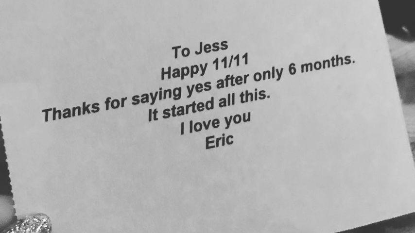 Jessica Simpson & ihr Eric: Süße Botschaft zum Jahrestag!