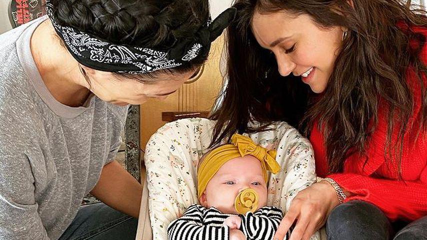 Nina Dobrev lernt Tochter von Freundin Jessica Szohr kennen