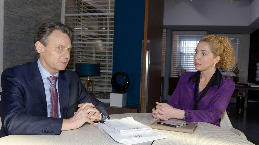 Jo Gerner (Wolfgang Bahro) und Nina (Maria Wedig) bei GZSZ