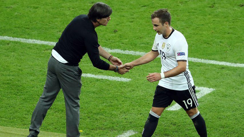 Joachim Löw und Mario Götze bei der EM 2016