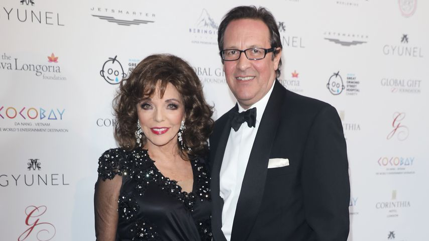 Joan Collins und Percy Gibson in London, 2017