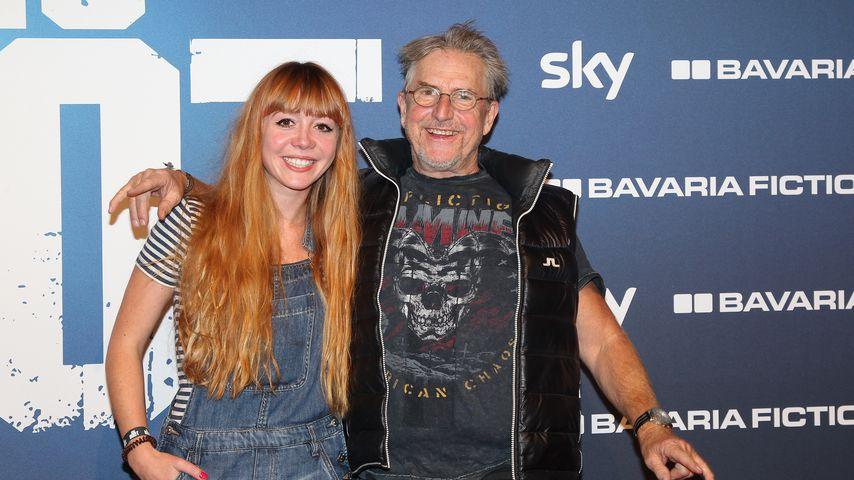 Joanna Semmelrogge mit ihrem Vater Martin, November 2018