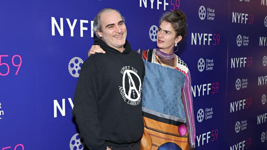 Joaquin Phoenix und Gaby Hoffmann beim New York Filmfestival im Oktober 2021