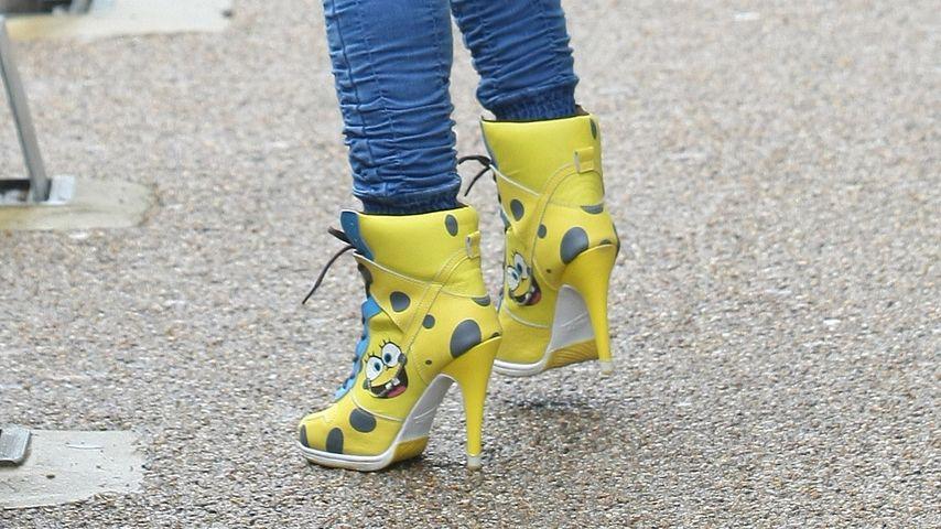 Spongebob-Schwammfuß? Jodie Marshs Comic-Heels