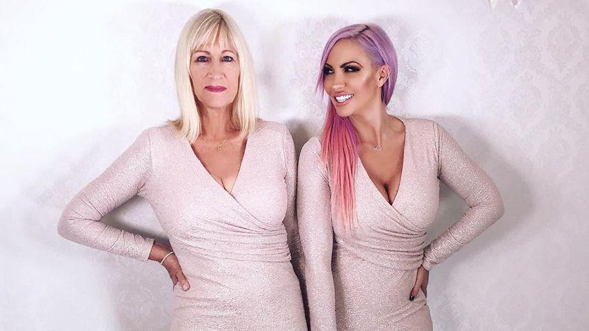 Jodie Marsh (rechts) und ihre Mutter