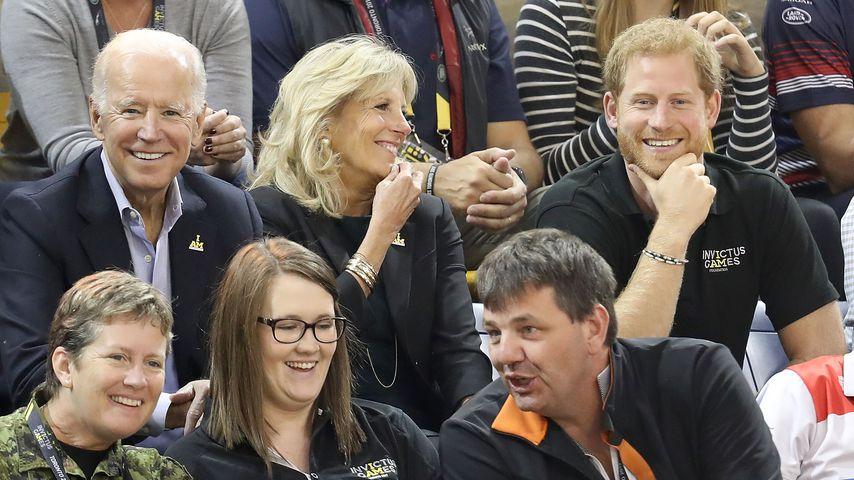 Joe und Jill Biden und Prinz Harry bei den Invictus Games in Toronto im September 2017