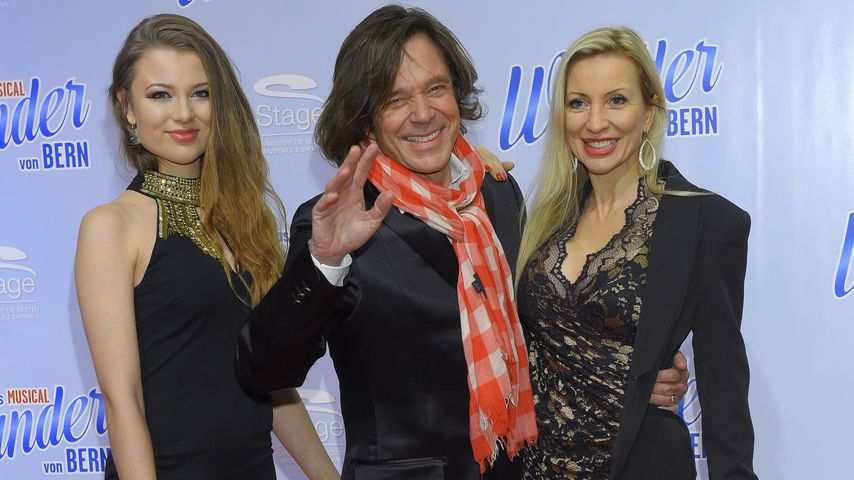 """Joelina, Jürgen und Ramona Drews bei der Premiere von """"Das Wunder von Bern"""""""