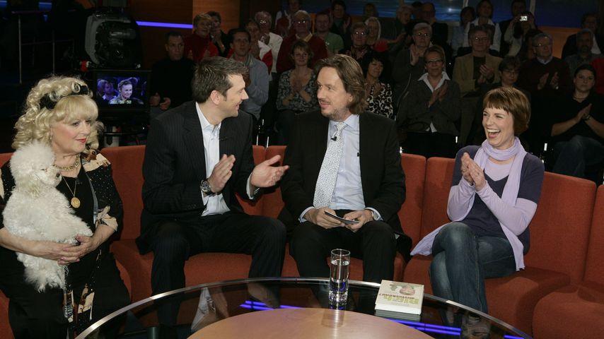 """Johanna Jacob, Kai Wiesinger, Jörg Kachelmann und Cordula Stratmann bei """"Riverboat"""""""