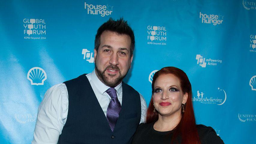 Joey Fatone und Kelly Baldwin im Februar 2013