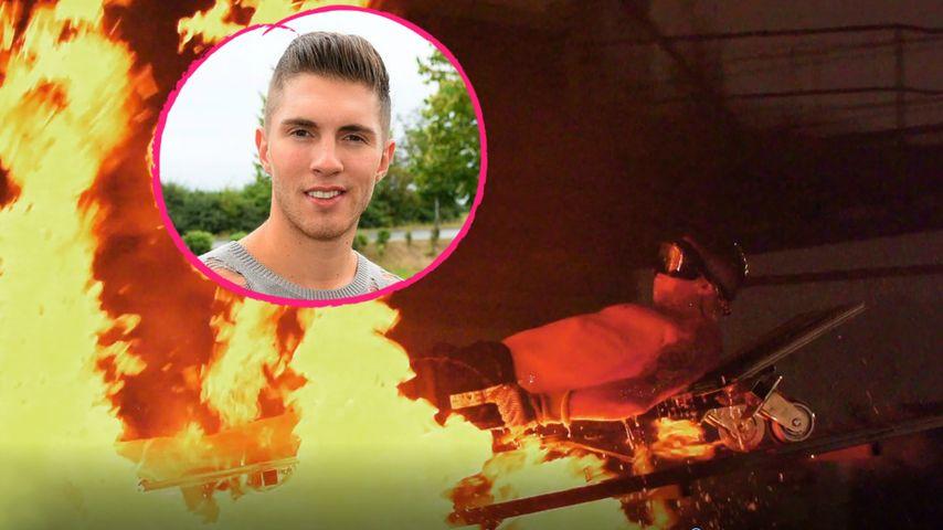 Halb nackt im 1.000-Grad-Feuer: Joey Heindles heiße Mutprobe