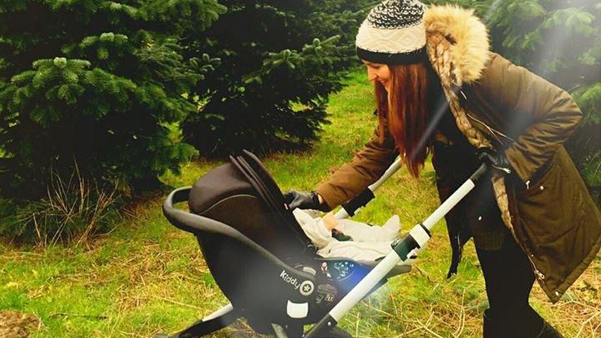 Johanna Klum unterwegs mit dem Kindewagen