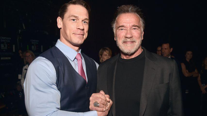 John Cena und Arnold Schwarzenegger auf der CinemaCon 2019 in Las Vegas