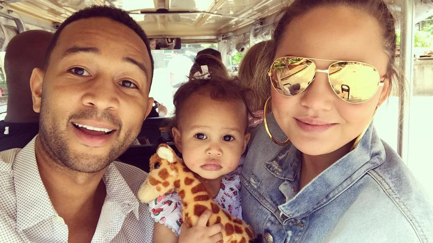 John Legend, Chrissy Teigen und Luna Simone  beim Ausflug in den Zoo