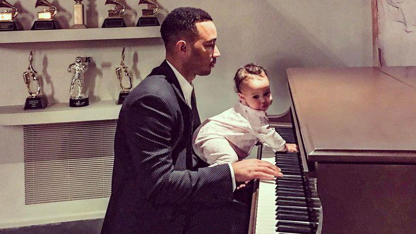 Süßes Helferchen: John Legend probt für Oscars mit Baby Luna