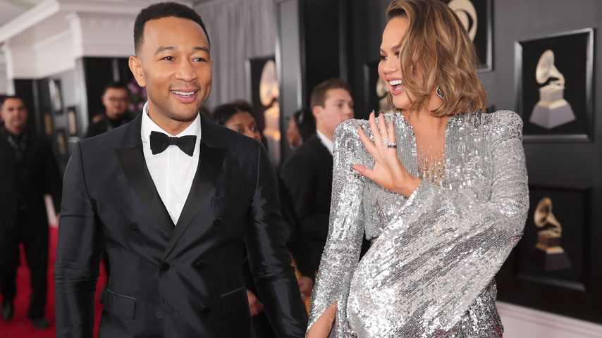 John Legend und Chrissy Teigen bei den Grammy Awards 2018
