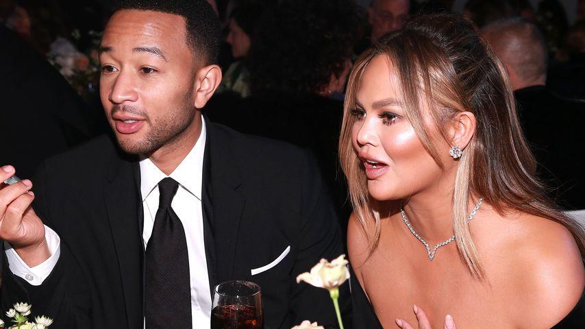 John Legend und Chrissy Teigen bei einer Preisverleihung