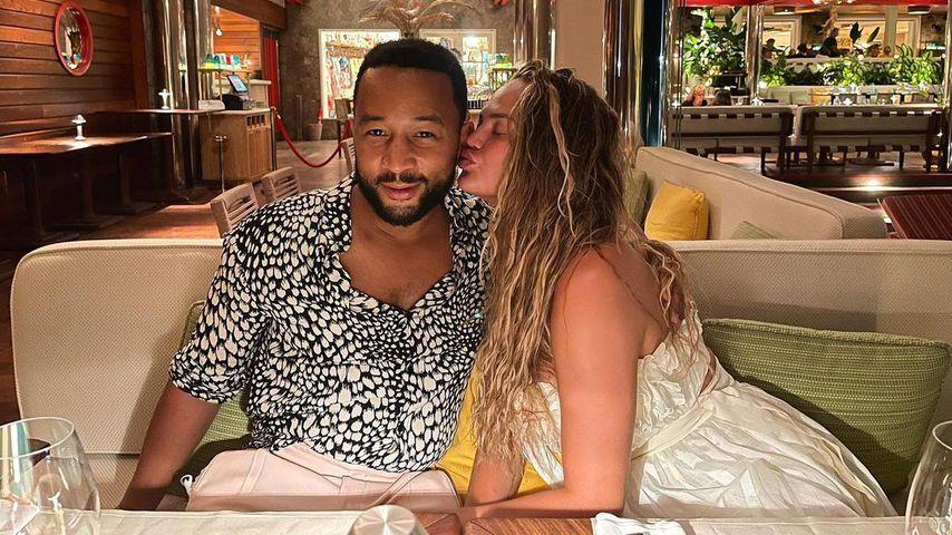 John Legend und Chrissy Teigen in der Karibik im Dezember 2020