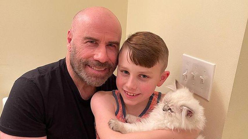 John Travolta, Schauspieler mit seinem Sohn Ben Travolta