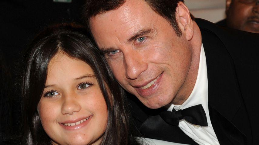 John Travolta und seine Tochter Ella Bleu im Jahr 2010