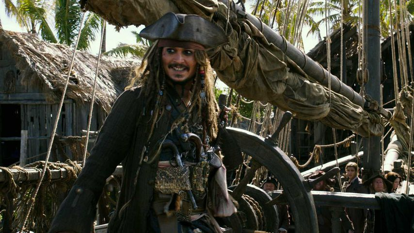 "Johnny Depp in ""Pirates of the Caribbean: Salazars Rache"""
