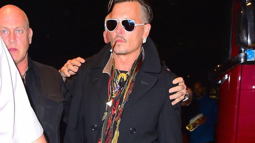 Johnny Depp in New York