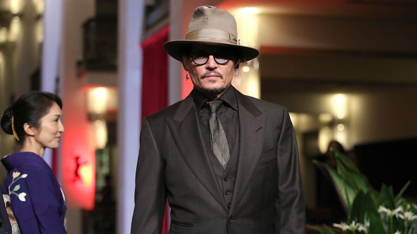 """Johnny Depp bei der """"Minamata""""-Premiere in Berlin im Februar 2020"""