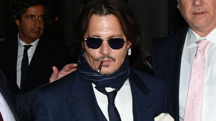 Johnny Depp verlässt ein Gerichtsgebäude in London im Februar 2020