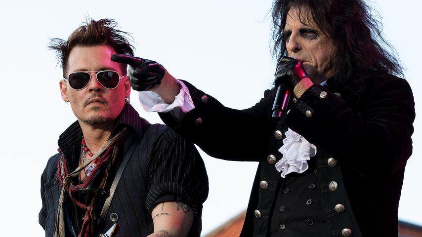 Johnny Depp und Alice Cooper
