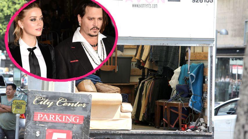 Weil Johnny Depp Möbel holt: Amber Heard ruft wütend Polizei