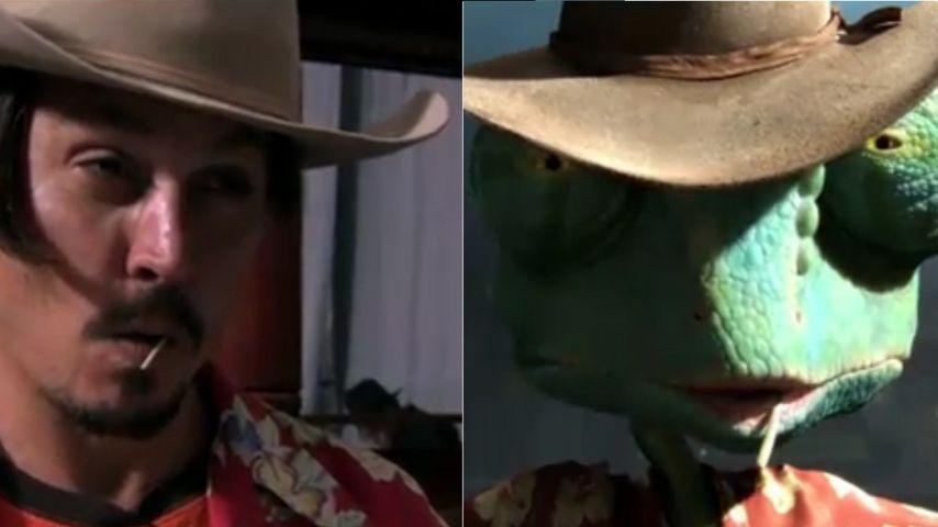 Johnny Depp leiht Chamäleon seine Stimme