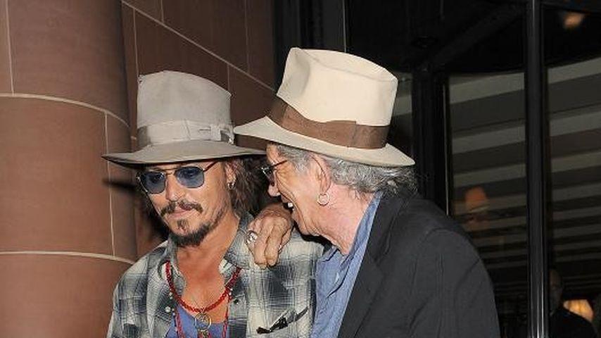 Johnny Depp: Männerabend mit Keith Richards