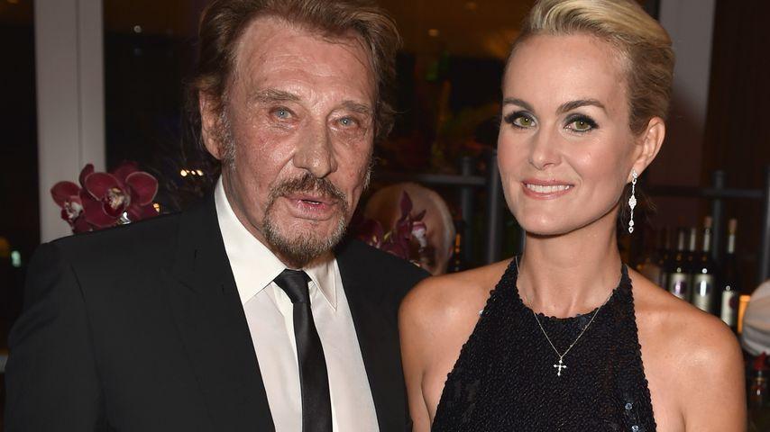 Johnny Hallyday und seine Frau Laeticia