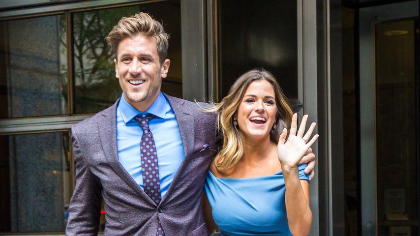 JoJo Fletcher und ihr Verlobter Jordan Rodgers (v. r.) vor den ABC-Studios in NYC