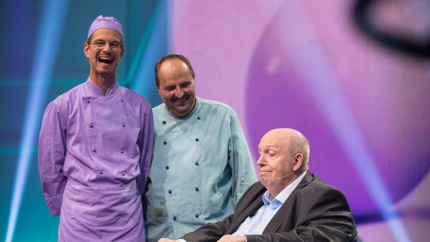 """Joko Winterscheidt, Johann Lafer und Reiner Calmund bei """"Die beste Show der Welt"""""""
