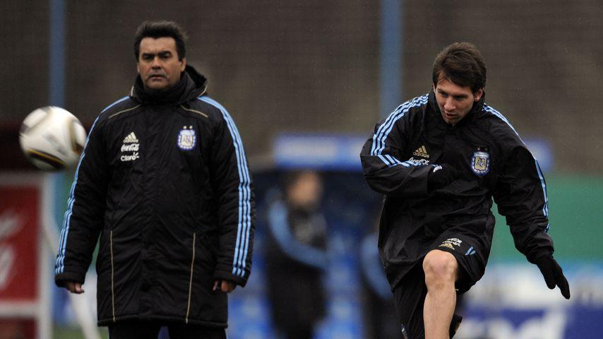 José Luis Brown und Lionel Messi