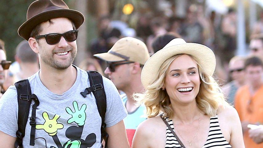 Diane Kruger und Joshua Jackson auf dem Coachella Festival 2014