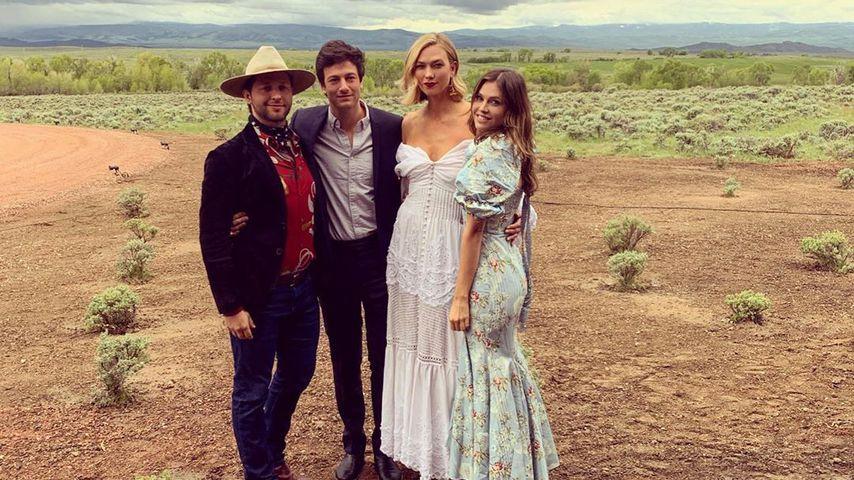 Joshua Kushner und Karlie Kloss mit Freunden, Juni 2019
