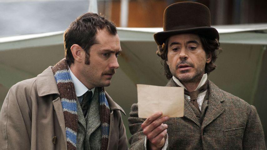 """Jude Law und Robert Downey Jr. in einer Filmszene aus """"Sherlock Holmes – Spiel im Schatten"""""""