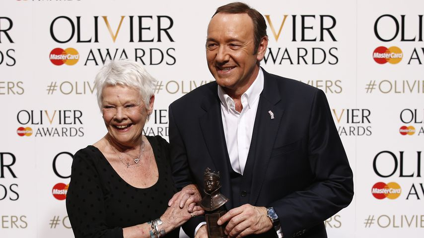 Judi Dench und Kevin Spacey in London 2015