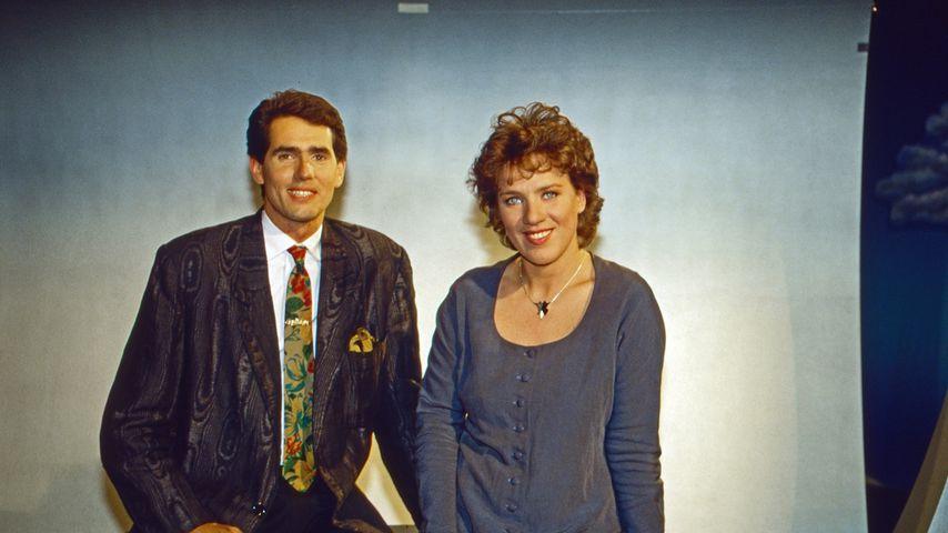 Jürgen Drensek und Julitta Münch beim ARD-Morgenmagazin 1992