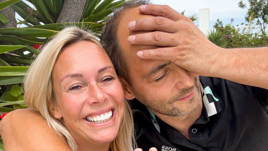 Julia Holz und ihr Partner Iwan im Mai 2021 auf Mallorca